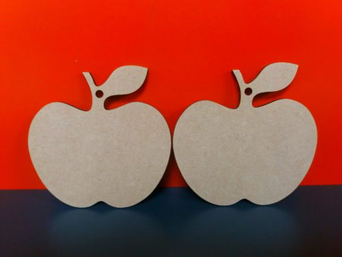 Mdf 3mm Laser Apples 10cm x 10cm with 1 hanging hole MULTI PURCHASE SAVINGS