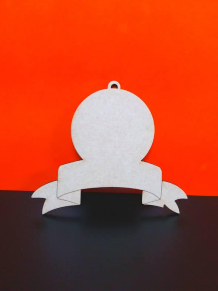Mdf Blank Scroll Bauble 12 8cm X 10cm Cc0088 Woodform