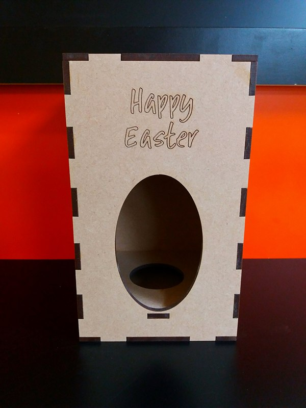 Mdf Easter Box 20 5cm X 12cm X 12cm Woodform Crafts