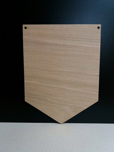 Mdf Bunting Triangles 15cm x 10cm WC1012