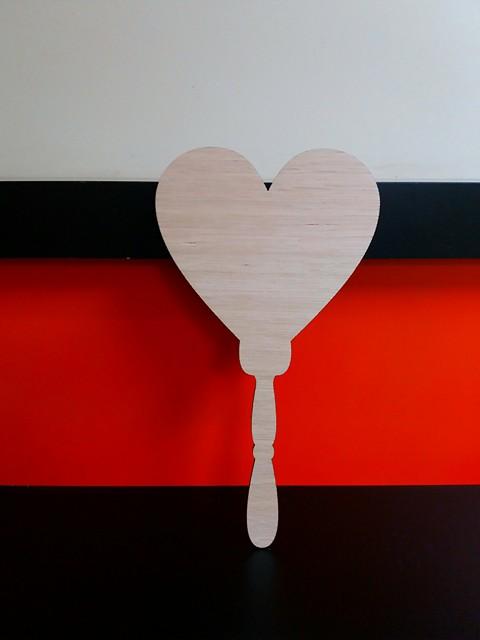 Oak Veneer Heart Paddle 27 5cm X 15cm Wc1374 Woodform Crafts
