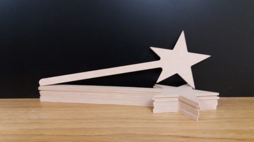 Mdf 3D Fairy Dual Wands 4mm Cnc cut 29cm