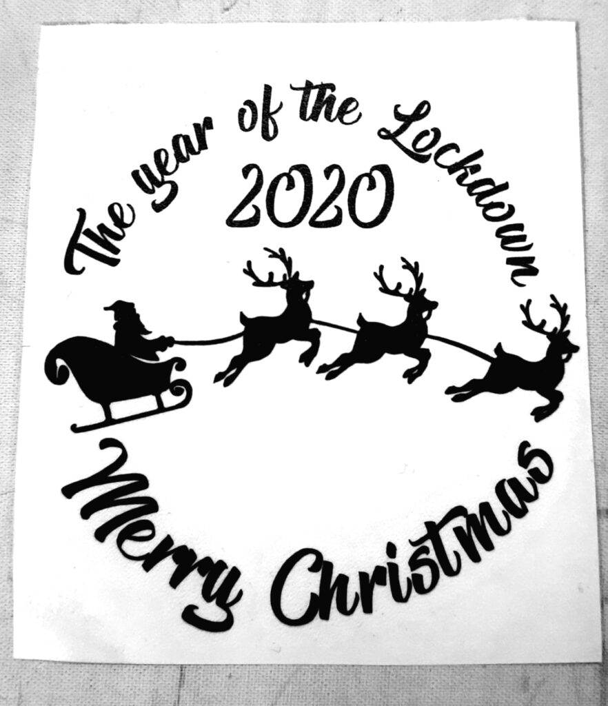The Year Of Lockdown 2020 Merry Christmas Vinyl To Fit