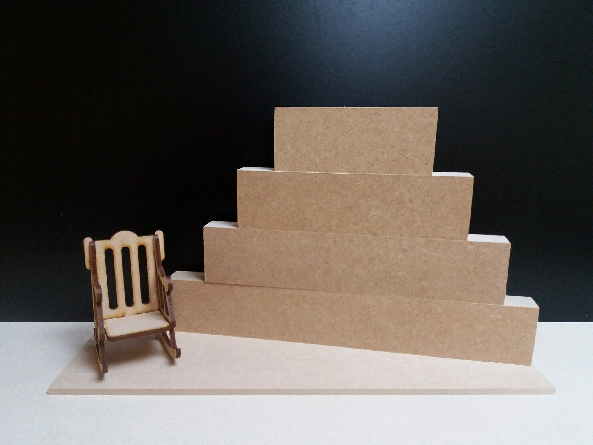 Mdf Stacking Blocks With Plinth Amp Rocking Chair Woodform
